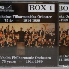 CDs de Música: 2 CAJA CD. STOCKHOLM PHILARMONIC ORCHESTRA 75 YEARS. 1914-1989. Lote 296019323