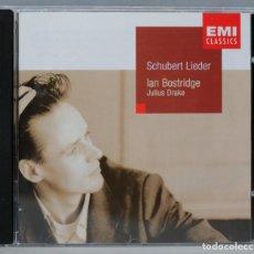 CDs de Música: CD. SCHUBERT. IAN BOSTRIDGE. JULIUS DRAKE. SCHUBERT LIEDER. Lote 296019743