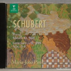 CDs de Música: CD. FRANZ SCHUBERT .MARIA-JOÃO PIRES. PIANO SONATA D.960, IMPROMPTUS D.899 NOS. 3 & 4. Lote 296019933