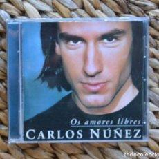 CDs de Música: CARLOS NÚÑEZ – OS AMORES LIBRES 1999 CDMÚSICA GALEGA TRADICIONAL CELTA GALICIA. Lote 296578303