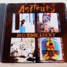 CDs de Música: AMATEURS - 3RD TIME LUCKY - CD ARREBATO 1993 - MUY BUEN ESTADO. Lote 296583583