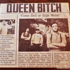 CDs de Música: QUEEN BITCH - COME HELL OR HIGH WATER - CD DUSTY HILL 2012 - PERFECTO ESTADO!. Lote 296588013
