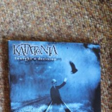CDs de Música: KATATONIA , TONIGHT'S DECISION , CD 2003 DIGIPACK, ESTADO IMPECABLE, GOTHI ROCK, DOOM METAL. Lote 296627418