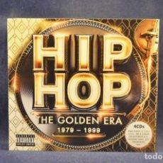 CDs de Música: VARIOUS - HIP HOP THE GOLDEN ERA 1979-1999 - 4 CD. Lote 296718343