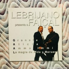 CDs de Música: CD LEBRIJANO PRESENTA A FAICAL 4 TEMAS CASI COMO NUEVO AQUITIENESLOQUEBUSCA ALMERIA. Lote 296830858