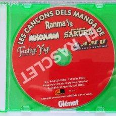 CDs de Música: CD MUSICA - LES CANÇONS DELS MANGA DE RANMA1/2 - CD ORIGINAL SIN SU CAJA. Lote 296852553