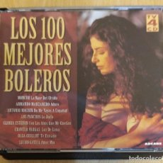 CDs de Música: LOS 100 MEJORES BOLEROS - 4 CD'S 1996 MONCHO, MOCEDADES, MINA, PERALES, CHAVELA VARGAS, LOS PANCHOS. Lote 297049923