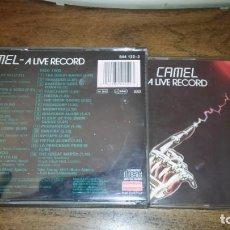 CDs de Música: CAMEL - A LIVE RECORD (2 CD EN DIRECTO. EDICIÓN ORIGINAL EN CAJA ANCHA). Lote 297101428