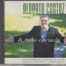 CDs de Música: ALBERTO CORTEZ DOBLE CD A TODO CORAZÓN 1999. Lote 297115018
