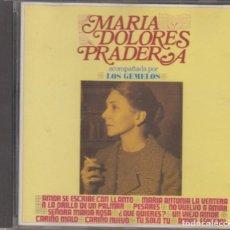 CDs de Música: MARÍA DOLORES PRADERA CD ACOMPAÑADA POR LOS GEMELOS 1992 ZAFIRO. Lote 297117628