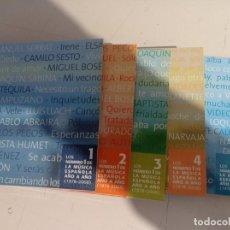 CDs de Música: LOTE 5 CD´S LAS CANCIONES DE NUESTRA VIDA - LOS NUMERO 1 DE LA MUSICA ESPAÑOLA REF. UR MES. Lote 297152533