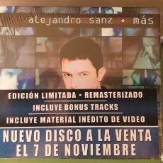 CDs de Música: ALEJANDRO SANZ CD + DVD MAS EDICIÓN LIMITADA REMASTERIZADO NUEVO!!! PEGATINA 1 EDICION + 5€ ENVIO CN. Lote 297273213