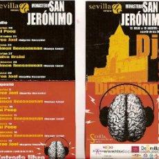Música de colección: FLYER DEL FESTIVAL DJ SESSIONS EN EL MONASTERIO DE SAN JERÓNIMO, SEVILLA. VERANO 2005.. Lote 5395183