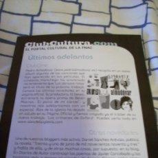 Música de colección: FOLLETO PUBLICITARIO DE LA FNAC. PROGRAMACIÓN ENERO 2008.. Lote 8053324