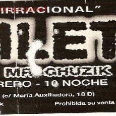 Música de coleção: 2 ENTRADAS DE CONCIERTO PARA EL GRUPO 'HAMLET'.. Lote 2939368
