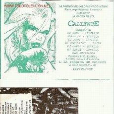 Música de coleção: 2 ENTRADAS PARA FIESTAS TECHNO-RAVE.. Lote 2939991