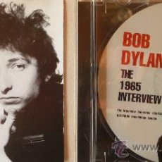 Música de colección: BOB DYLAN / THE 1965 INTERVIEW. Lote 24349445