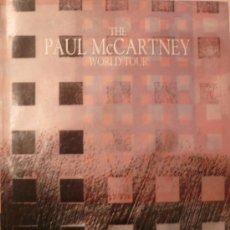 Música de colección: THE PAUL MC CARTNEY WORLD TOUR 1989, LIBRO DE LA GIRA. Lote 26473688