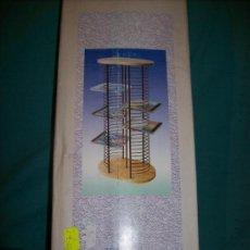 Música de colección: ARCHIVADOR 60 CDS – BASE MADERA – PORTA CD'S DE METAL - NUEVO. Lote 27542205