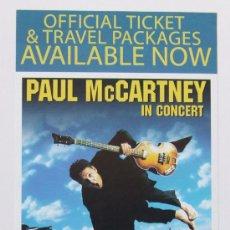 Música de colección: BEATLES. PAUL MCCARTNEY. FLYER PROMOCIONAL GIRA DRIVING USA. Lote 35785809