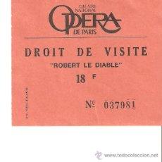 Música de colección: ENTRADA A LA OPERA DE PARIS.-ROBERT LE DIABLE-.. Lote 25555594