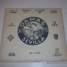 Música de colección: CASA DAMAS (SEVILLA). ANTÍGUA CARPETA-FUNDA, PARA DISCOS E.P.Y SINGLE DE VINILO . Lote 27508515