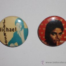 Música de colección: MICHAEL JACKSON 2 CHAPAS. Lote 27117231