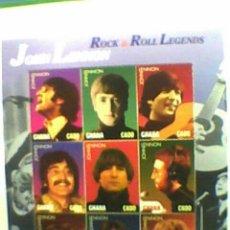 Música de colección: SELLOS GHANA JOHN LENNON BEATLES. Lote 27024003