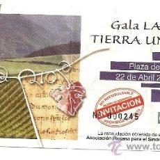 Música de colección: ENTRADA GALA DE LA RIOJA TIERRA UNIVERSAL. Lote 14987307