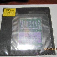Música de colección: MADONNA / PASE VIP WEMBLEY STADIUM 22 DE JULIO/ PASE NUMERADO/ WORLD TOUR 90. Lote 16947446