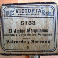 Música de colección: ROLLO DE PIANOLA EN SU CAJA ORIGINAL. EL AMIGO MELQUIADES. Lote 27605619