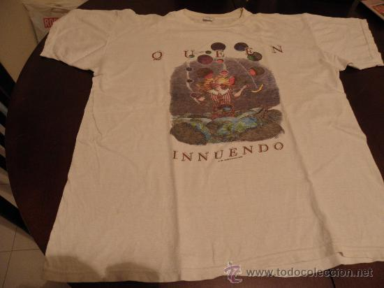 0d81922f QUEEN - INNUENDO - T SHIRT - ORIGINAL FAN CLUB 1991 - FREDDIE MERCURY -  BRIAN MAY