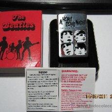Música de colección: BEATLES-MECHERO ZIPPO-A HARD DAYS NIGHT- PRODUCTO OFICIALY EN CAJA METALICA . Lote 25371583