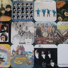 Música de colección: JUEGO DE 12 POSAVASOS DE LOS BEATLES. FOTOGRAFÍAS, PORTADAS DE DISCOS. LENNON, MCCARTNEY. . Lote 25882771
