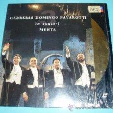 Música de colección: LASER DISC CARRERAS DOMINGO PAVAROTTI IN CONCERT. ZUBIN MEHTA. DISCO LÁSER. Lote 26749701