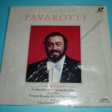 Música de colección: LASER DISC THE ESSENTIAL PAVAROTTI. DISCO LÁSER. Lote 26749782