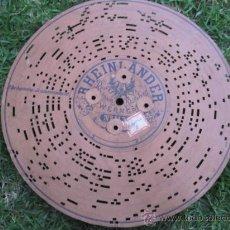 Música de colección: DISCO DE CARTON PERFORADO PARA ARISTON - RHEINLÄNDER -SCHOTTIS - PATENTE EHRLICHS Nº 1137. SI. Lote 28018100