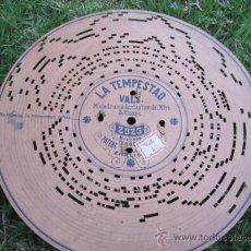 Música de colección: DISCO DE CARTON PERFORADO PARA ARISTON - LA TEMPESTAD - VALS CHAPI - PATENTE EHRLICHS Nº 2323. SI. Lote 28018125