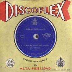 Música de colección: DISCOFLEX - COROS DEL EJERCITO RUSO - KALINKA - A LO LARGO DE LA PETERSKAIA. Lote 28106861