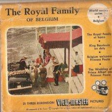Música de colección: ++ VIEW MASTER 3 DISCOS 21 FOTOS .THE ROYAL FAMILY OF BELGIUM. 1959 ++. Lote 28175244
