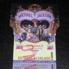 Música de colección: ENTRADA MICHAEL JACKSON - WORLD TOUR 1992 DANGEROUS , LISBOA 1992 - . Lote 28451140