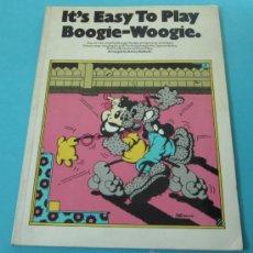 Música de colección: IT'S EASY TO PLAY BOOGIE - WOOGIE. ARRANGED BY KENNY BALDOCK. Lote 29313162