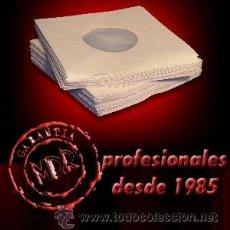 Música de colección: 100 FUNDAS DE PAPEL + ANTIESTATICO INTERIOR PARA DISCOS DE VINILO SINGLE 7 Y EP (DISCOS PEQUEÑOS). Lote 246495875
