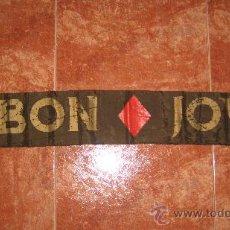 Musica di collezione: BON JOVI - BUFANDA OFICIAL DE LA GIRA NEW JERSEY 1988 1989 1990. Lote 30136615