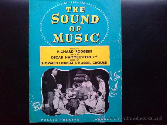 THE SOUNDS OF MUSIC, SONRISAS Y LÁGRIMAS - LIBRETO ORIGINAL DEL TEATRO PALACE DE LONDRES (Música - Varios)