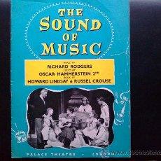 Música de colección: THE SOUNDS OF MUSIC, SONRISAS Y LÁGRIMAS - LIBRETO ORIGINAL DEL TEATRO PALACE DE LONDRES. Lote 30231473