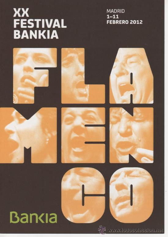 PROGRAMA DE MANO, DÍPTICO, XX FESTIVAL BANKIA FLAMENCO 2012 (Música - Varios)