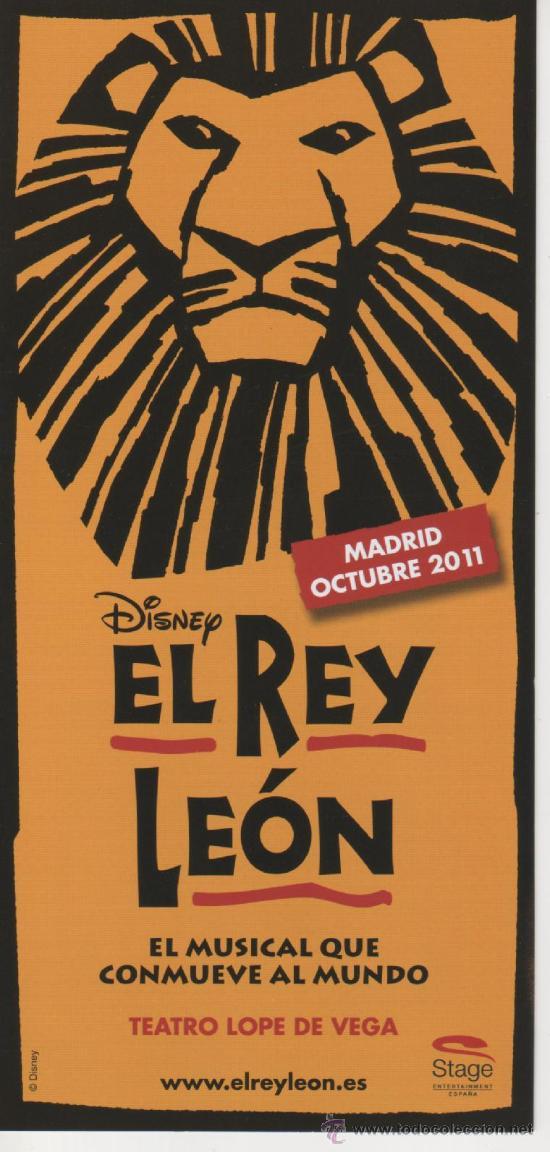 Folleto promocional - tríptico: *el rey león, e - Vendido