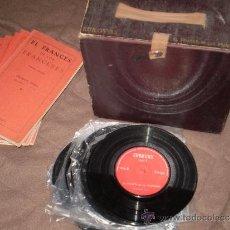 Música de colección: ANTIGUO CURSO COMPLETO DE FRANCES DEL AÑO 1961 COMPUESTO DE 6 LIBROS Y 12 DISCOS DE VINILO,. Lote 30649802