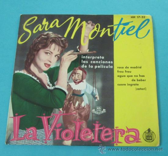 CARÁTULA DISCO LA VIOLETERA. SARA MONTIEL (Música - Varios)